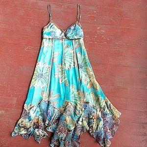 Sue Wong flowered silk summer dress